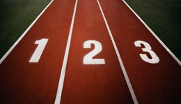 13 Sep 2004 --- Running Track with Three Lanes --- Image by © Darren Greenwood/Design Pics/Corbis