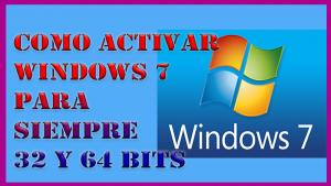 Como Activar Windows 7 Cualquier Version 32 y 64 Bits - Para Siempre 2018