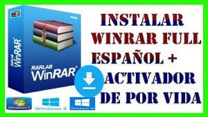 como instalar winrar gratis full español + activador de por vida