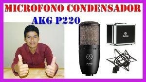 micrófono de voz cardioide con condensador akg p220 - revisado