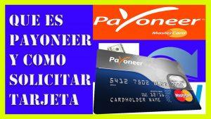 cómo solicitar una tarjeta payoneer