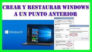 Como Crear y Restaurar Windows 10 a un Punto a nterior Paso a Paso